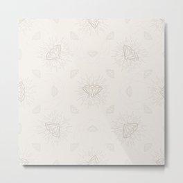 Shiny Diamonds neutral pattern Metal Print