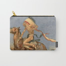 """Frederic Remington Western Art """"Pony War Dance"""" Carry-All Pouch"""