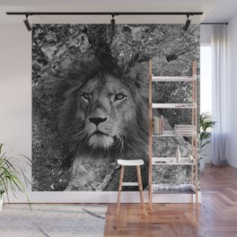 The Fearless Lion Wall Mural