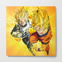 Dragon Ball Goku and Vegeta Metal Print