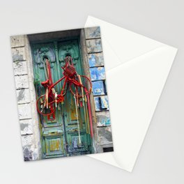 Bicycle Door, Montevideo,Uruguay Stationery Cards