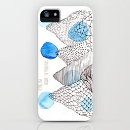 Flying high through the mountains iPhone Case