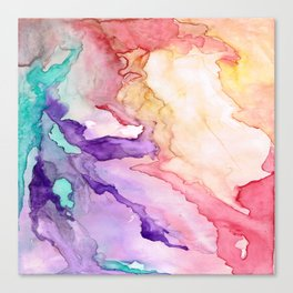 Color My World Watercolor Abstract Painting Canvas Print