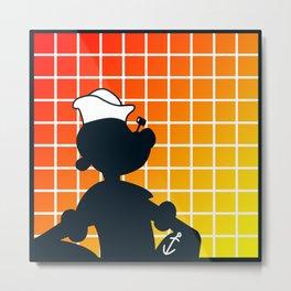Shadow - Popeye Metal Print