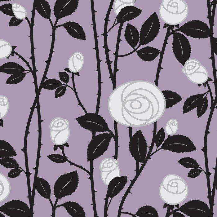 Lavender Rose Pattern Leggings