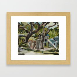 Nora's Yard Framed Art Print