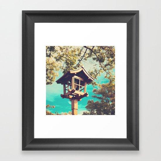 Japanese Lamp  (Retro Vintage Photography) Framed Art Print