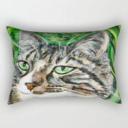 Prince Charmer Tabby Cat Portrait Rectangular Pillow