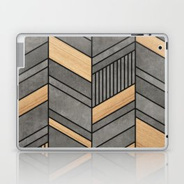 Abstract Chevron Pattern - Concrete and Wood Laptop & iPad Skin