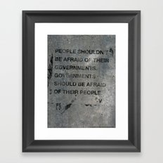 Governments Framed Art Print