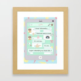 dear interwebs Framed Art Print
