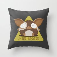 gizmo Throw Pillows featuring gizmo by Eva Puyal