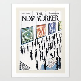 """Cover of """" The new Yorker"""" magazine. Mar. 6 1965. Art Print"""