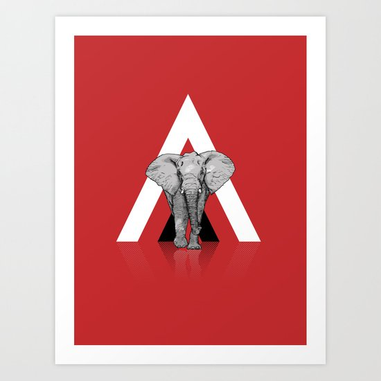 Because I Can't Forget - RED Art Print