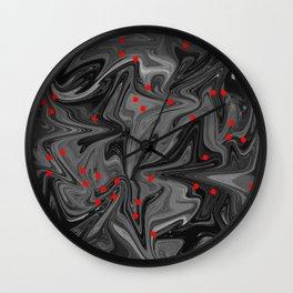 Oil Spill & Blood Droplets Wall Clock