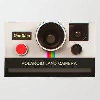 polaroid Area & Throw Rugs featuring POLAROID by MiliarderBrown