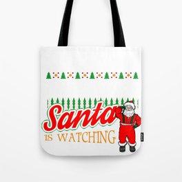 Christmas Lineman Santa Says Be Nice to the Lineman Tote Bag