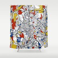 rome Shower Curtains featuring Rome by Mondrian Maps