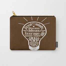 Great minds & small minds discuss ideas Inspirational Motivational Quote Design Carry-All Pouch