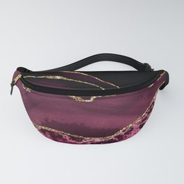 Agate, Burgundy Pink Faux Gold Fanny Pack