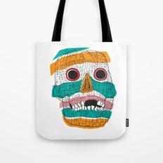 Stripy Skull  Tote Bag