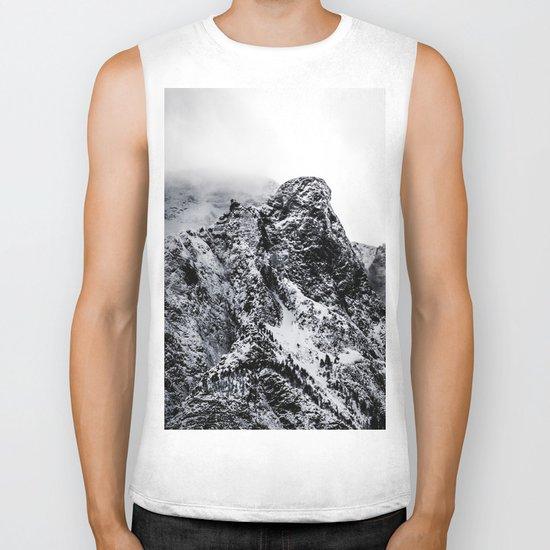 Mountain black white 5 photo Biker Tank