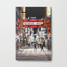 Japan at night Metal Print
