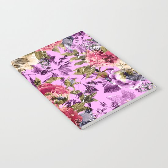 Seamless Floral Pattern Notebook
