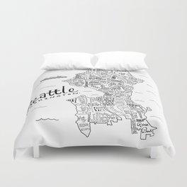 Seattle Map Duvet Cover