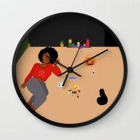 tarot Wall Clocks featuring Tarot Cards by Akujixxv