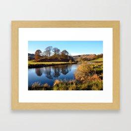Golden light on the River Brathay Framed Art Print