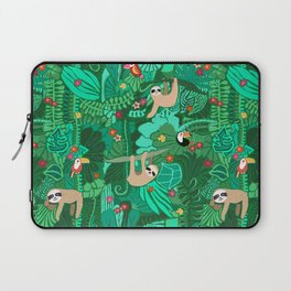 Sloths in the Emerald Jungle Pattern Laptop Sleeve
