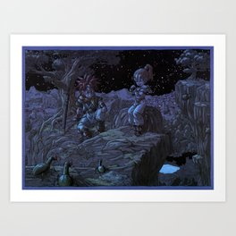 Chrono Trigger - Crono and Marle Art Print