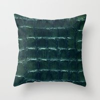 crocodile Throw Pillows featuring crocodile by clemm