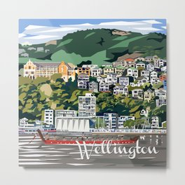 Wellington Harbour, NZ Metal Print