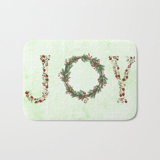 Joy Wreath #3 Bath Mat
