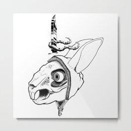 Rabbit Queen Metal Print