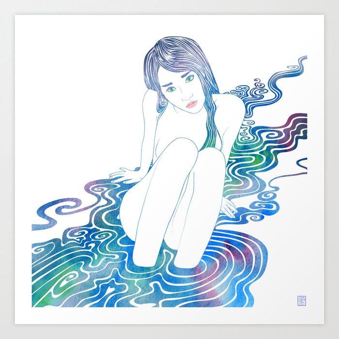 Water Nymph LXXXVI Art Print