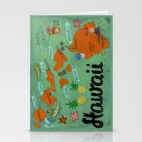 hawaii Stationery Cards featuring HAWAII by Christiane Engel