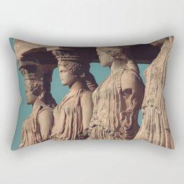 Caryatids of the Erectheum, ancient greek, Agora of Athens, Erectheum, Greece photography, Athens Acropolis Rectangular Pillow