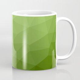 Greenery ombre gradient geometric mesh pattern Coffee Mug