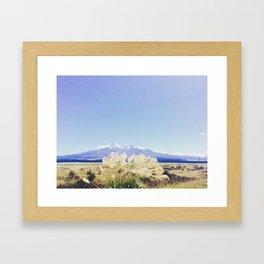 Sky ( Road Trip New Zealand ) Framed Art Print