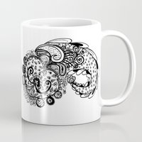 paisley Mugs featuring Paisley by Flavia Caponi
