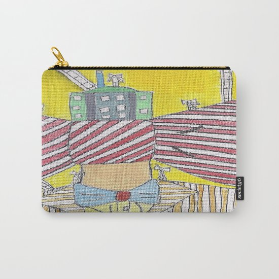 """""""Bows""""  Acrylic On Canvas Carry-All Pouch"""