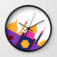 india Wall Clocks featuring INDIA by Anne