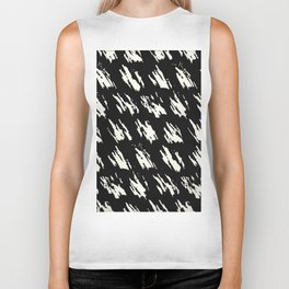 Modern Paint Ivory on Black Biker Tank