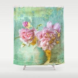 Glam Shabby Chic Still Life Shower Curtain