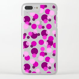 Pink and Purple Spots Clear iPhone Case