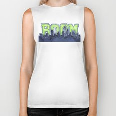 Seattle Legion of Boom Space Needle Skyline Watercolor Biker Tank