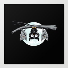 Cute Owl With Friends Canvas Print